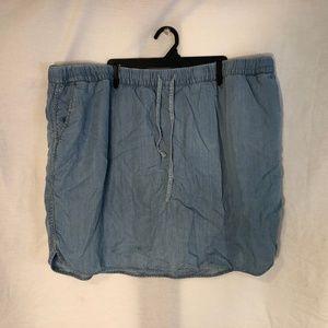 Cato Plus Size 26 28 Skort Denim Light Blue 103